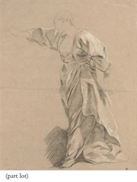 Drapery study of a woman with