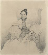 Portrait of a lady, seated in a chair