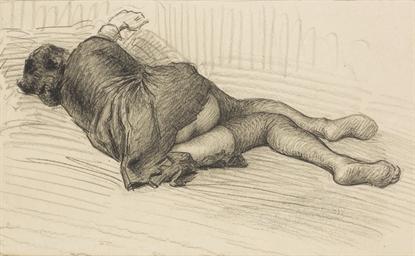 A reclining woman