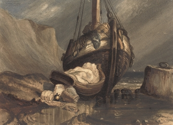 A fishing boat, after Eugène I