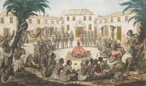 Africans holding council with a dignitary