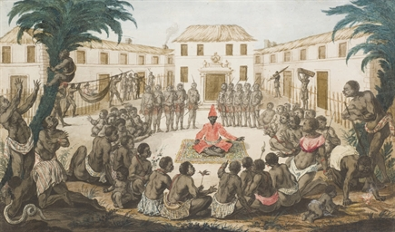Africans holding council with