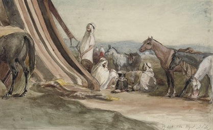 An Arab encampment in Algeria