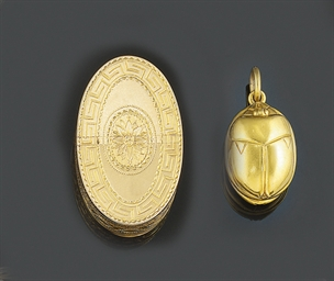 A small group of gold objects