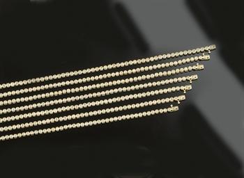 Seven diamond bracelets