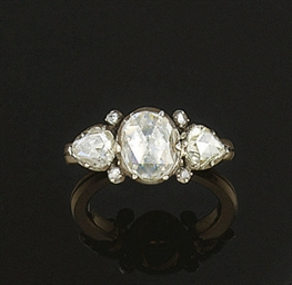 A Rose-Cut Diamond Ring