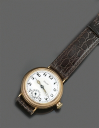 A 9ct. gold wristwatch, by Rol