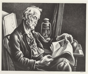 Old Man Reading (Fath 44)