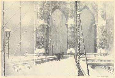 Brooklyn Bridge in Winter (Stu