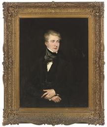 Portrait of a young man, three