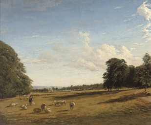 A shepherd watching his flock