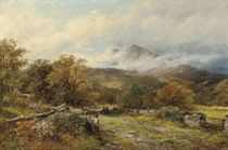 Blackberry gatherers - the Old Road between Bettys and Capel Curig