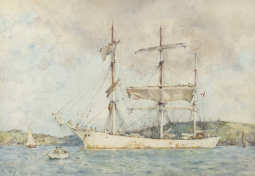 A windjammer at anchor