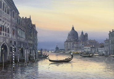 At dusk on the Grand Canal, Ve