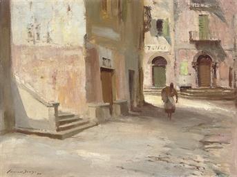 A Street in Argegno, Lake Como