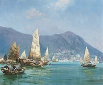 Boats in Hong Kong harbour