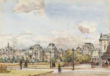 A view of the Louvre, Paris