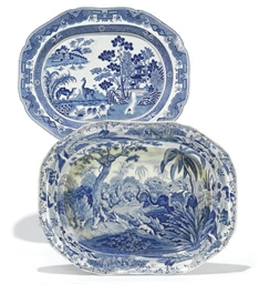 A SPODE BLUE AND WHITE MEAT-PL