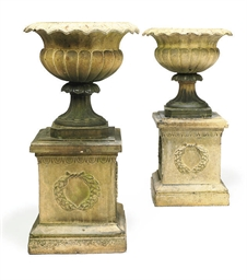 A PAIR OF VICTORIAN TERRACOTTA