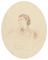 Portrait of a lady with black