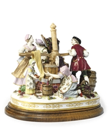 A MEISSEN-STYLE GROUP OF VINTN