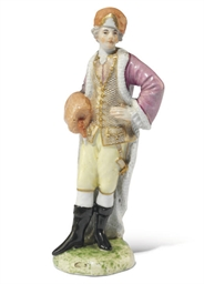 A LUDWIGSBURG FIGURE OF WINTER