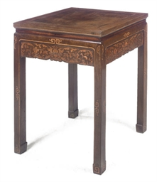 A CHINESE HARDWOOD AND MARQUET