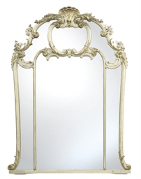 A FRENCH GREY-PAINTED AND GILT