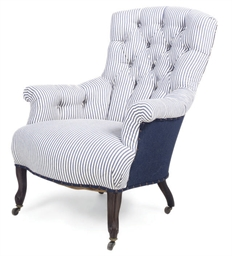 A FRENCH ROSEWOOD ARMCHAIR