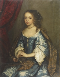 Portrait of a young girl, seat