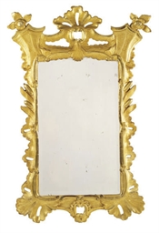 A VICTORIAN GILTWOOD MIRROR
