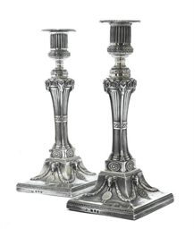 A PAIR OF GEORGE III SILVER NE