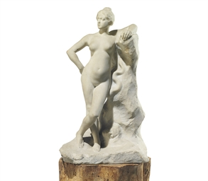 A FRENCH MARBLE MODEL OF 'CIRC