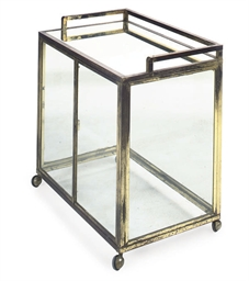 A FRENCH BRASS DRINKS CABINET
