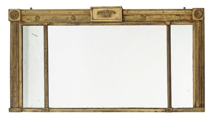 A REGENCY GILT GESSO OVERMANTE