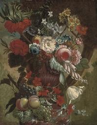 Roses, narcissi, convolvulus,