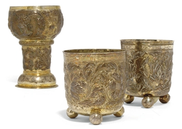 A GERMAN PARCEL-GILT SILVER RÖ