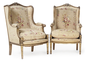 A PAIR OF GILTWOOD BERGERE A O