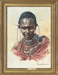 Two portraits of Masai women