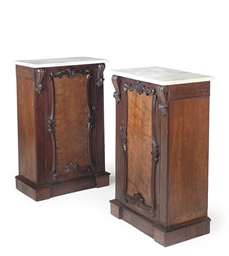 A PAIR OF MAHOGANY PIER-CABINE