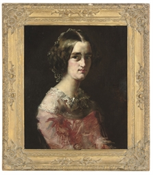 Portrait of a girl, half-lengt