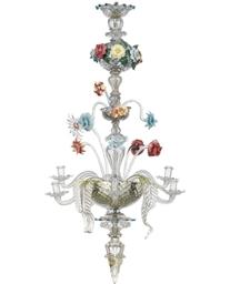 A VENETIAN GLASS EIGHT-LIGHT C