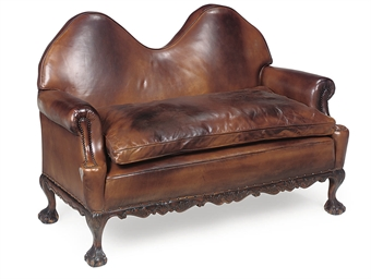 A CARVED BEECH SOFA