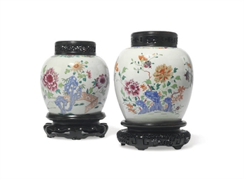 TWO CHINESE FAMILLE ROSE JARS