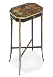 A REGENCY PARCEL-GILT EBONISED