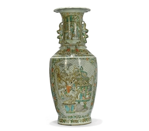 A CANTONESE BALUSTER VASE