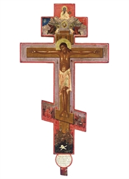 AN ICONOSTASIS CRUCIFIX