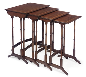 A SET OF EDWARDIAN SATINWOOD I