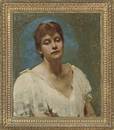 Portrait of Lily, bust-length,
