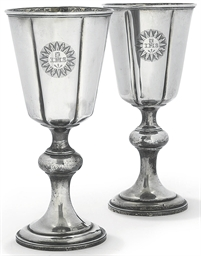 A PAIR OF EARLY VICTORIAN SILV